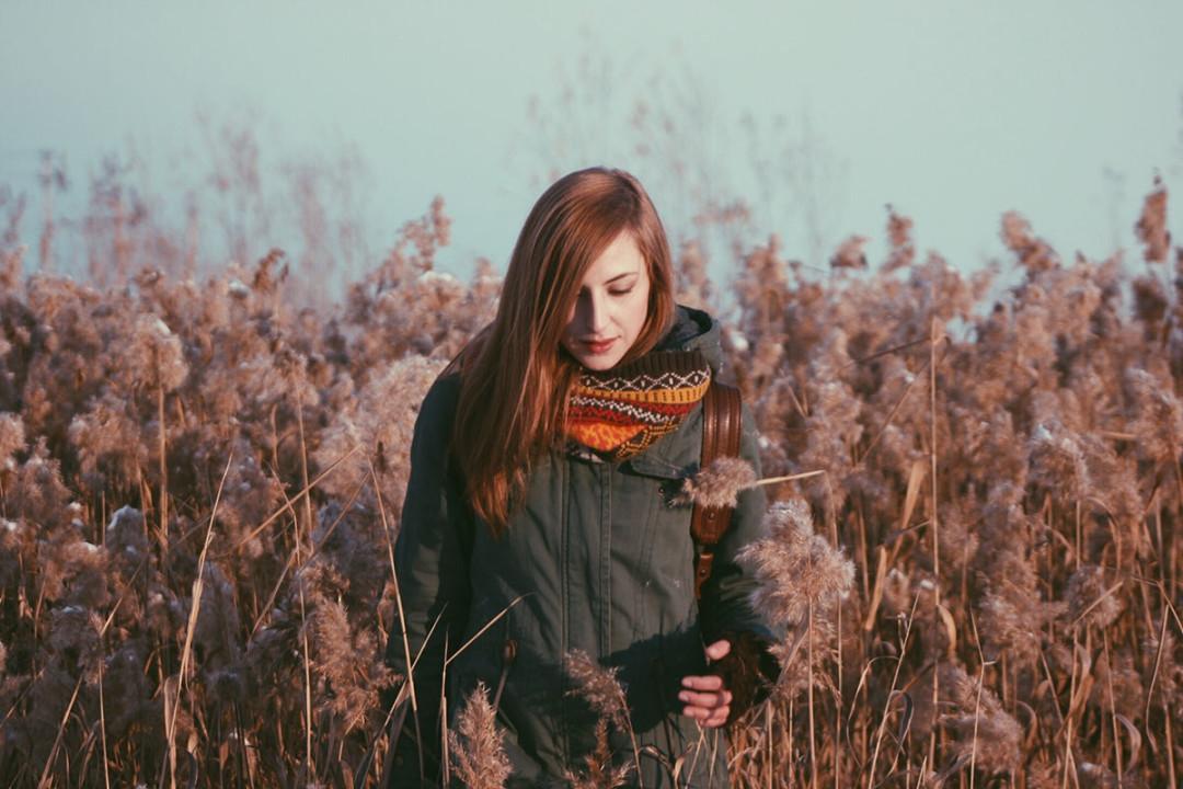 virgo girl in field