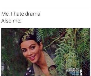 kim kardashian drama meme